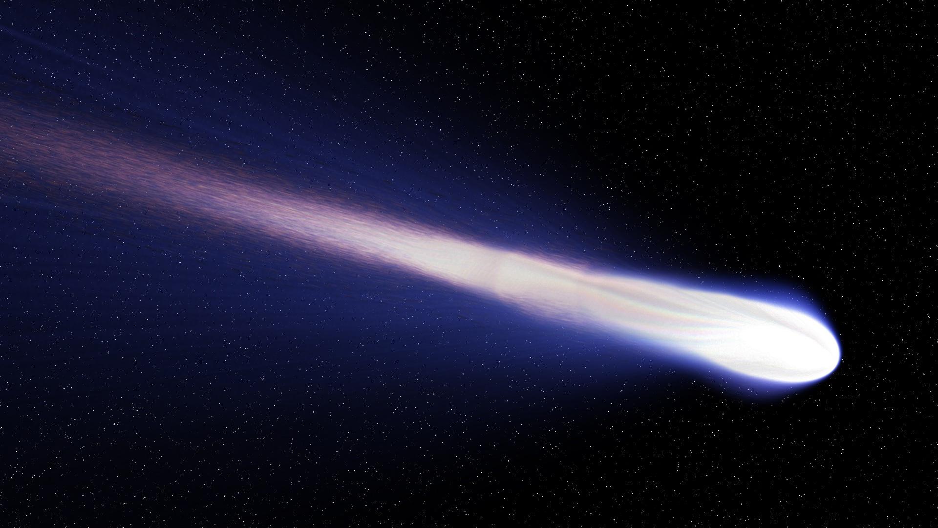 Una stella cometa che procede verso il futuro.